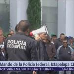 Continúa paro de policías federales en CDMX