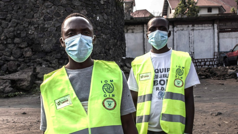 FOTO Muere de ébola pastor evangelista que llegó a Goma, en Congo; en la imagen, un control sanitario (EFE)