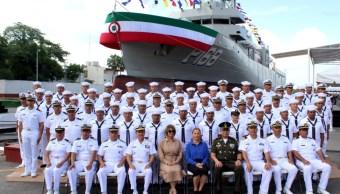 Foto: La principal labor del buque será de vigilancia, el 20 de julio de 2019 (Twitter @Semar_mx)