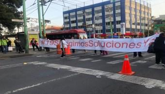Foto Damnificados del 19S bloquean Xola y Eje Central 8 julio 2019