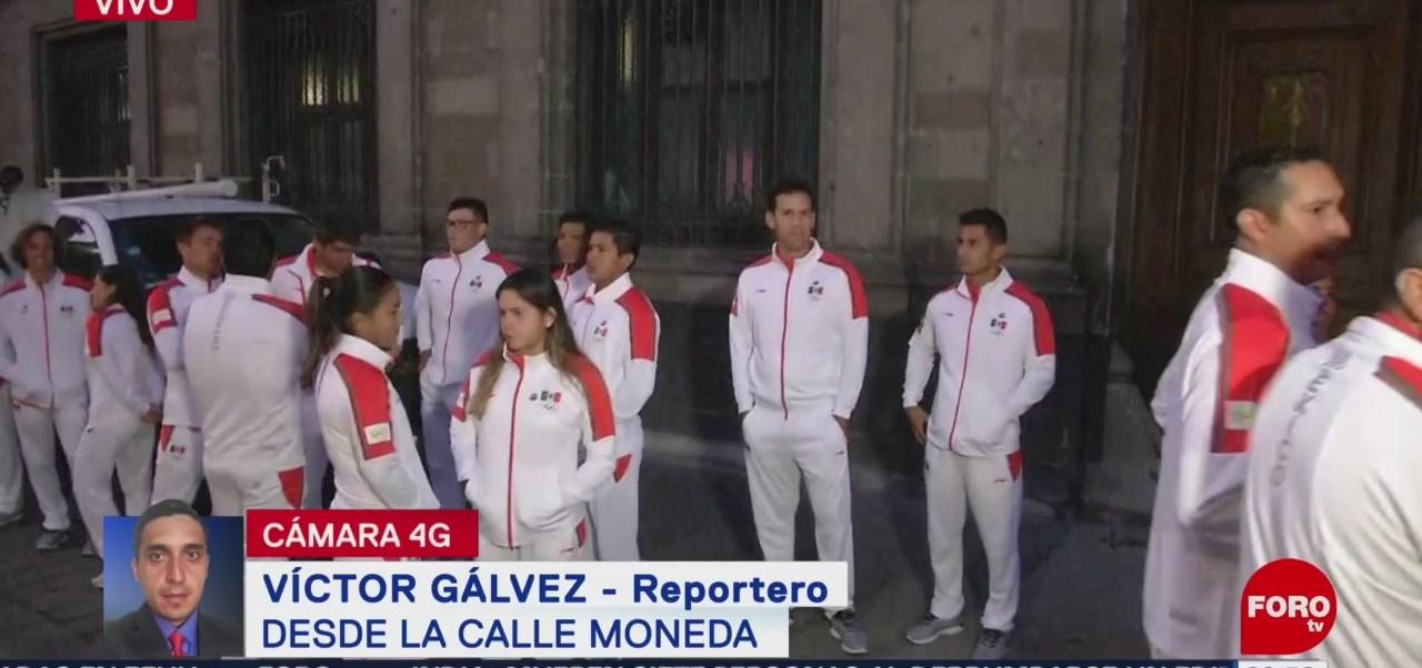Deportistas participarán en abanderamiento de la delegación mexicana en Palacio Nacional