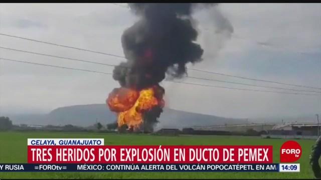 Foto: Desalojan a 150 personas por explosión en ducto de Pemex en Celaya