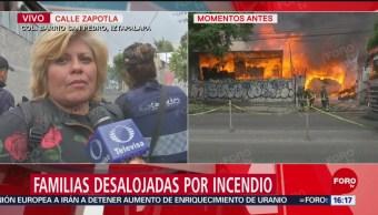Foto: Desalojan a familias por incendio en Iztapalapa, CDMX
