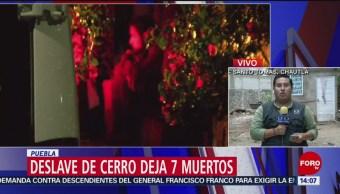 FOTO: Deslave de cerro deja siete muertos en Puebla