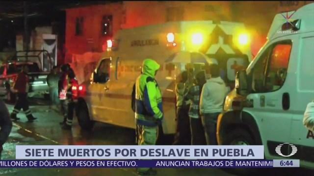 Deslaves en Santo Tomás Chautla Puebla, deja varios muertos