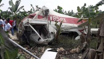 Foto: El piloto, de aproximadamente 68 años, murió en el lugar, el 10 de julio de 2019 (Noticieros Televisa)