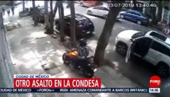 FOTO: Despojaron a hombre de 500 mil pesos en la Colonia Condesa, 7 Julio 2019