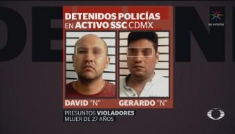 Foto: Detienen Policías Presunta Violación Joven 12 Julio 2019