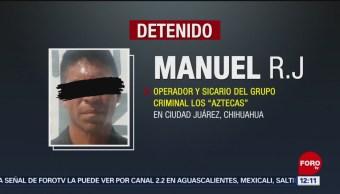"""FOTO: Detienen a presunto operador de los """"Aztecas"""" en Ciudad Juárez, 20 Julio 2019"""