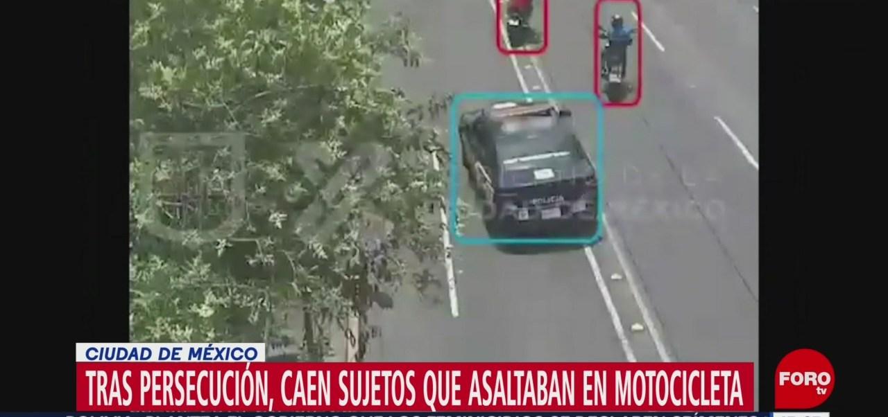 Detienen presuntos asaltantes automovilistas CDMX