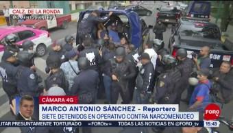 FOTO: Detienen a siete personas durante operativo contra narcomenudeo en CDMX