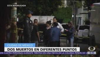 Dos hombres mueren en diferentes puntos de la CDMX