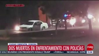 FOTO: Dos muertos en enfrentamiento con policías en Sonora, 7 Julio 2019