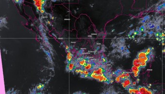 Foto: La zona de inestabilidad que se ubica al sur de las costas de Baja California, podría evolucionar en las próximas horas, 26 de julio de 2019 (Twitter @conagua_clima)
