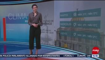 Foto: El Clima 'A las Tres' con Daniela Álvarez del 1 de julio de 2019