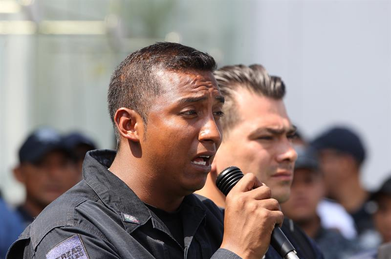 Foto: elementos de la Policía Federal, 9 de julio 2019. EFE