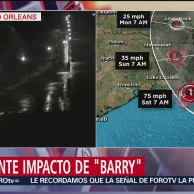 Emiten alerta en costa de Louisiana por tormenta 'Barry'