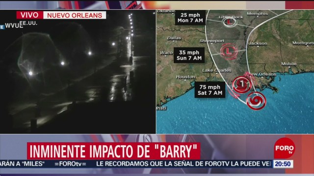 Foto: Alerta Costa Louisiana Estados Unidos Tormenta Barry 12 Julio 2019