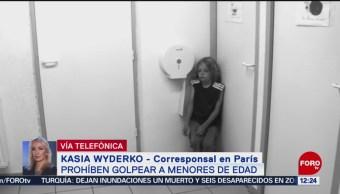FOTO: En Francia prohíben a golpear a menores de edad, 20 Julio 2019