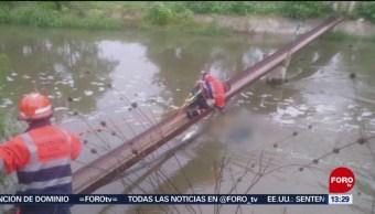 Foto: Encuentran Cuerpo Joven Cayó Valsequillo Puebla 26 Julio 2019