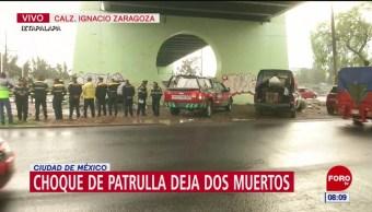 Choque deja dos personas muertas en calzada Ignacio Zaragoza, CDMX