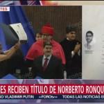 Foto: Ceremonia Graduacion Norberto Ronquillo Padres Reciben Título 10 Julio 2019