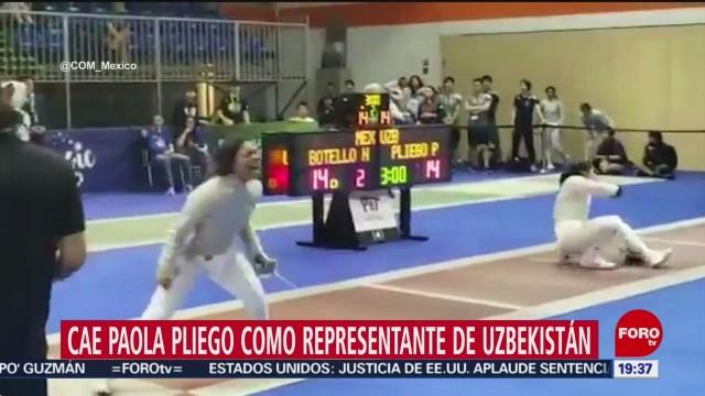 Foto: Esgrimista Paola Pliego Uzbekistán Pierde Ante Mexicana 17 Julio 2019