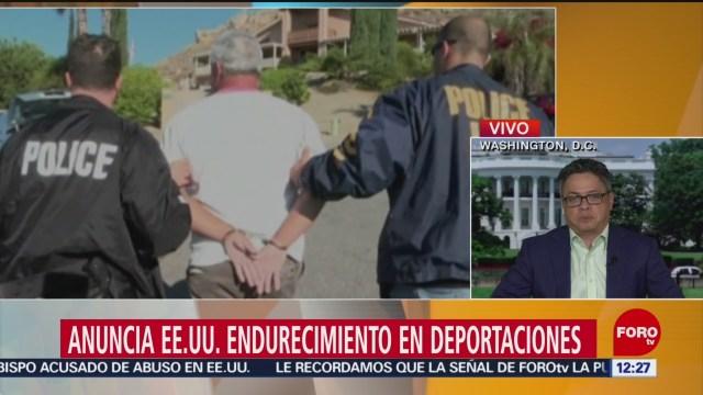 Estados Unidos anuncia endurecimiento de deportaciones