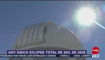 Este martes se producirá el único eclipse total de Sol de este 2019