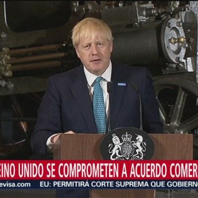 EU y Reino Unido se comprometen a acuerdo comercial