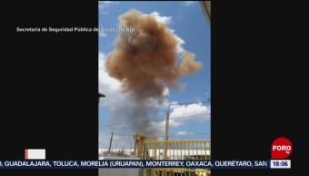 Explosión en fundidora de Aguascalientes