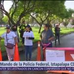 Familiares bloquean Centro de Mando ubicado en Iztapalapa