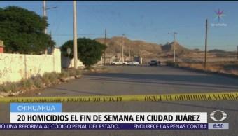 Fin de semana violento en Ciudad Juárez, Chihuahua