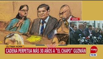 Fiscales destacan cadena perpetua a 'El Chapo' Guzmán