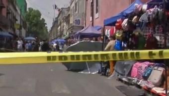 Foto: Una persona murió las calles República de Argentina y República de Colombia, en la colonia Centro, en Ciudad de México. El 19 de julio de 2019