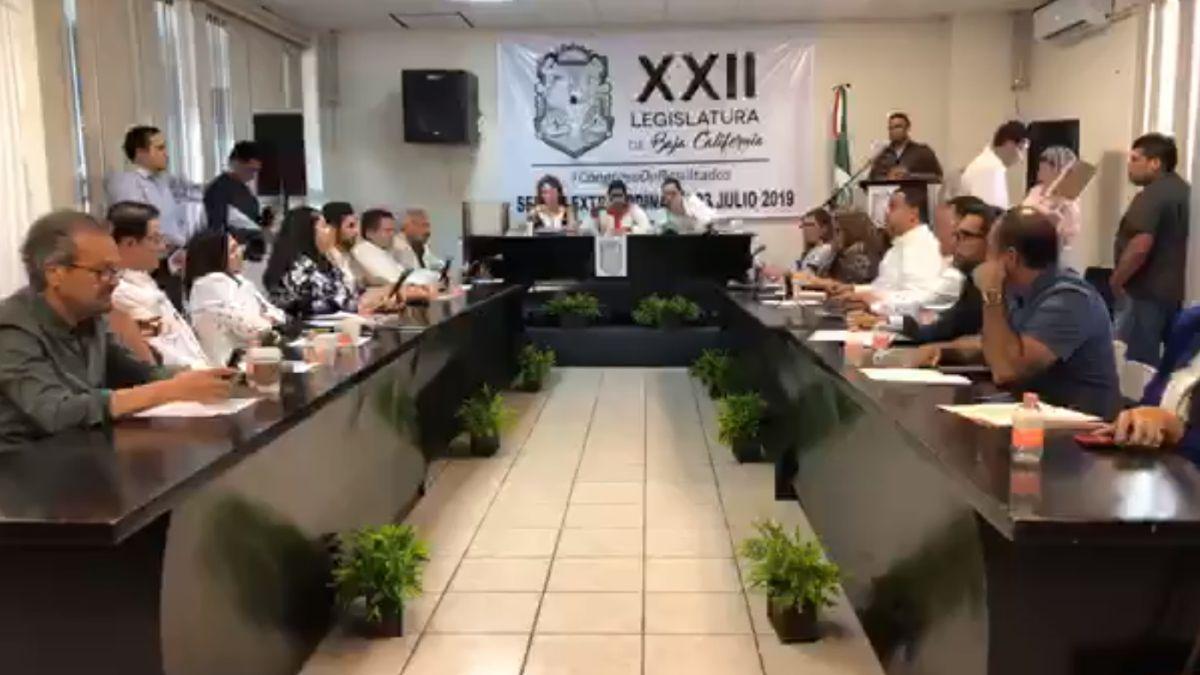 Foto: Sesión en el Congreso de Baja California. El 23 de julio de 2019. Congreso BC Poder Legislativo/Facebook