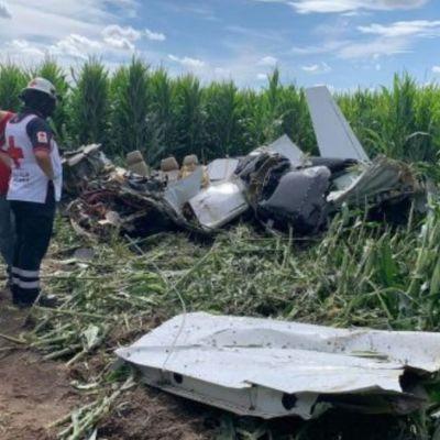 Mueren cuatro personas durante desplome de avioneta en Chihuahua