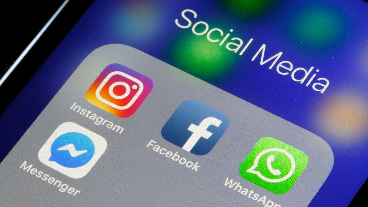 Foto: Las aplicaciones Facebook, Instagram, WhatsApp y Messenger. El 15 de marzo de 2019