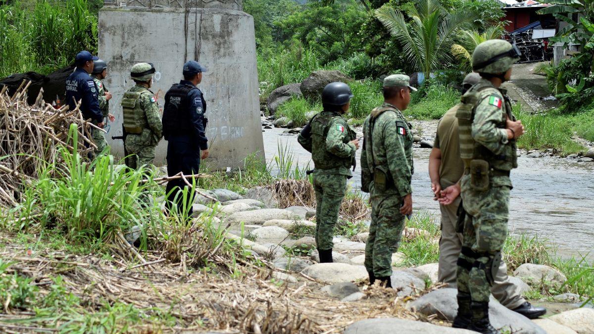 Foto: Elementos de la Guardia Nacional custodian la frontera entre México y Guatemala. El 16 de julio de 2019