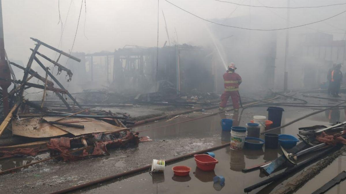 Foto: Unas 200 casas quedaron en cenizas. El 25 de julio de 2019