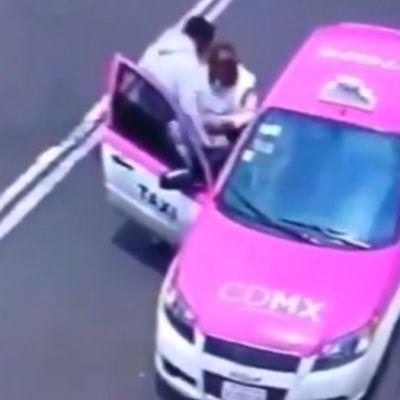Video: Taxista roba a mujer en sillas de ruedas en CDMX