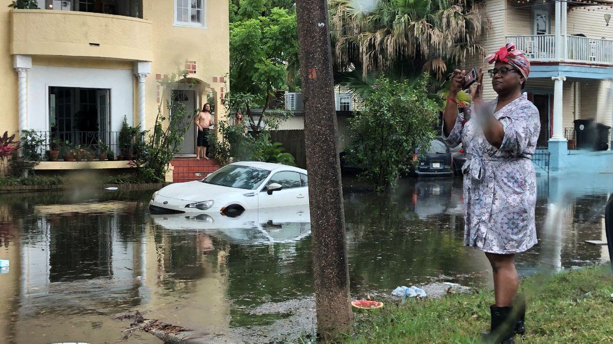 Foto: Una tormenta inundó las calles de Nueva Orleans, Estados Unidos. El 10 de julio de 2019