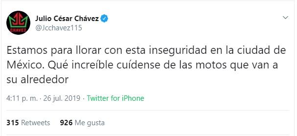 Captura de pantalla. Twitter/@Jcchavez115