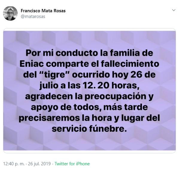 Captura de pantalla. Twitter/@matarosas