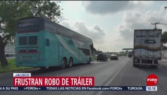 FOTO: Frustran robo de tráiler con electrónicos en Jalisco, 20 Julio 2019