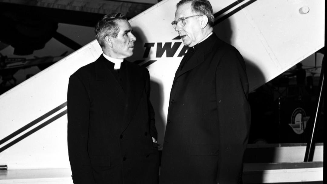 Foto: arzobispo Fulton Sheenfue un importante telepredicador, 6 de julio 2019 (Archivo getty)