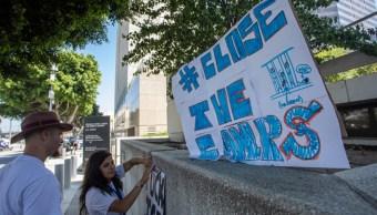 Foto: Protestas en Estados Unidos piden el cierre de los centros de detención, 18 de julio de 2019 (Getty Images)