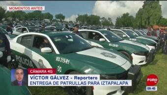 Gobierno CDMX entrega patrullas para la alcaldía Iztapalapa