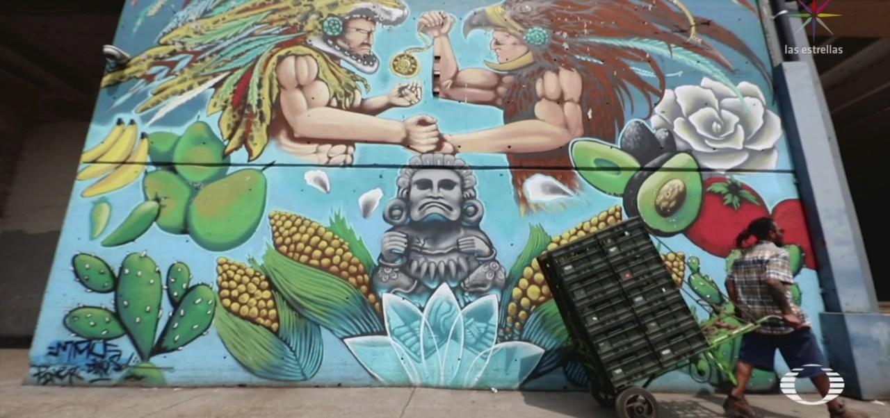 Foto: Grafittero Expone Obra Central De Abasto CDMX 12 Julio 2019