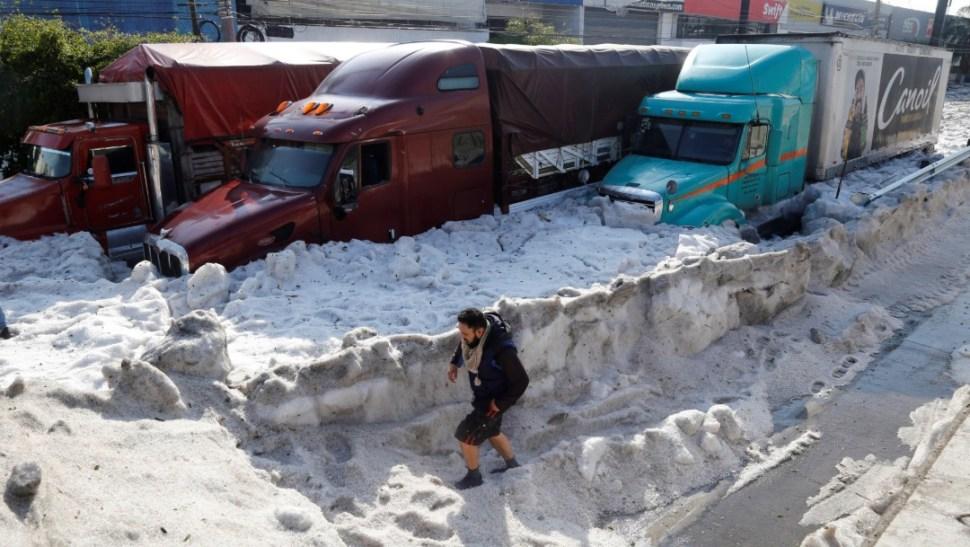 FOTO Granizada en Guadalajara afecta autos y casas (EFE 30 junio 2019 jalisco)